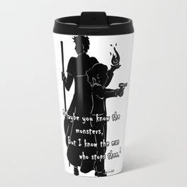 The Man Who Stops Monsters Travel Mug