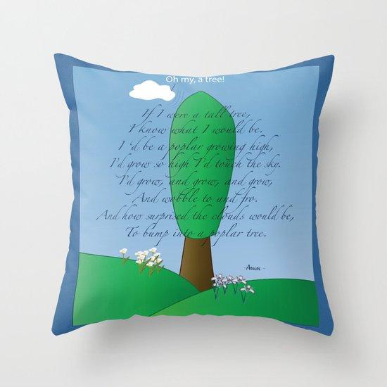 Poplar Tree Poem Throw Pillow