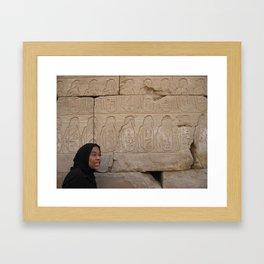 Guide at Karnak Temples in Karnak, Egypt  (2005) Framed Art Print