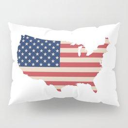United States of America Map Pillow Sham