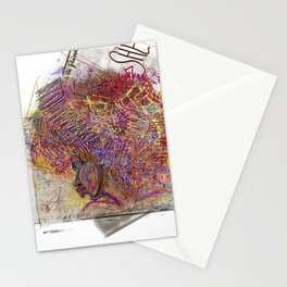 afro girl white background 1 Stationery Cards