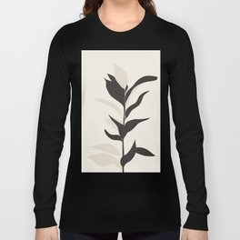 Abstract Minimal Plant Long Sleeve T-shirt