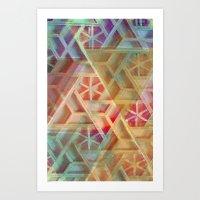 geo Art Prints featuring Geo by Ashley Keeley