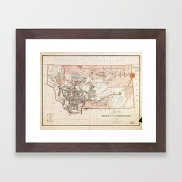 Map of Montana Territory by Charles Roeser (1879) Framed Art Print