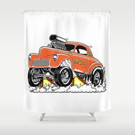 Misfit rev 2 Shower Curtain