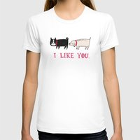 dog T-shirts featuring I Like You. by gemma correll