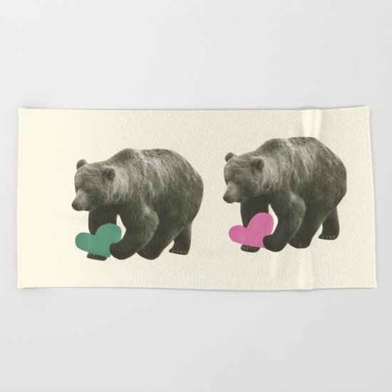 A Bear Romance Beach Towel