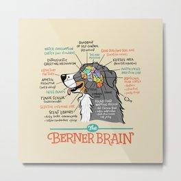 The Berner Brain - Bone Metal Print