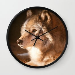 Wolf Beauty Wall Clock