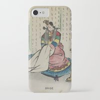 korean iPhone & iPod Cases featuring Korean Bride 1952 by Nancy Smith