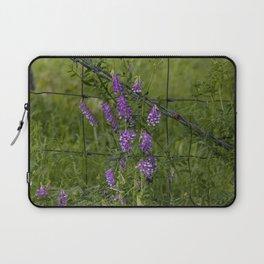 Purple Alfalfa flowers Laptop Sleeve