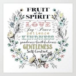 Fruit of the Spirit (darker color palette) Art Print