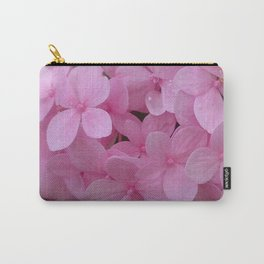 Pink Hydrangea - Flower Photography Carry-All Pouch
