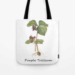 Purple Trillum Tote Bag