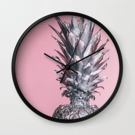 The Silver Pineapple Wall Clock