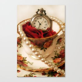 Time For Tea & Pearls!  Canvas Print