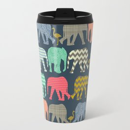 baby elephants and flamingos Travel Mug