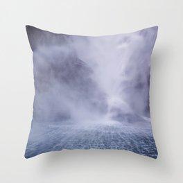 Waterfall Spray Throw Pillow