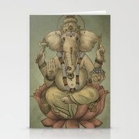 ganesha Stationery Cards featuring Ganesha by Sumi Senthi