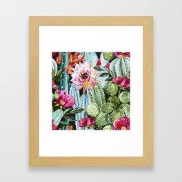 Watercolor Flowers Art Work Framed Art Print