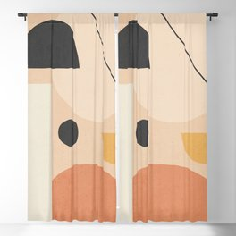 Abstract Art / Shapes 27 Blackout Curtain