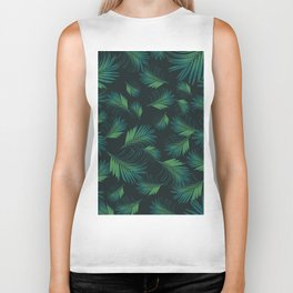 Tropical Night Palms Pattern #1 #tropical #decor #art #society6 Biker Tank