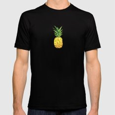 Pineapple Abstract Triangular  LARGE Black Mens Fitted Tee