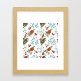 Australian Botanicals - White Framed Art Print