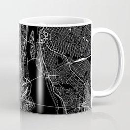 Montreal Black Map Coffee Mug