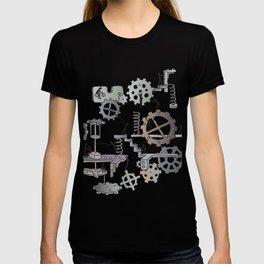 Steampunk mechanical working concept T-shirt