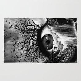 Cascade Crying Eye grayscale Rug