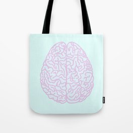 Pastel Brain Tote Bag