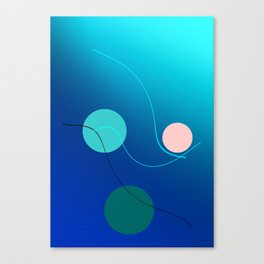 The 3 dots, power game 5 Canvas Print