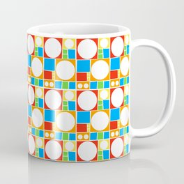 Colourful Abstract Shapes Pattern Coffee Mug