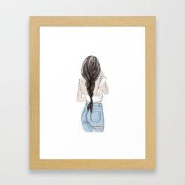 Ruffle top Framed Art Print