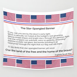 The star spangled banner -america,usa,american flag,patriot, national anthem,stars and strips Wall Tapestry