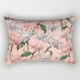 Mums Pattern  |  Blush•Pink•White Rectangular Pillow