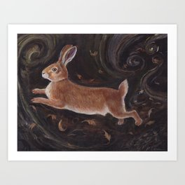 Leaping Hare Art Print