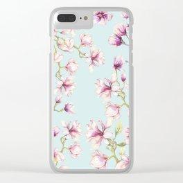 Delicate Magnolia Clear iPhone Case