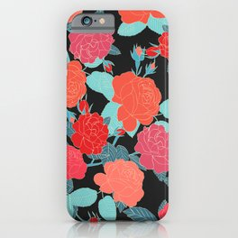 Rose Garden - Dark iPhone Case