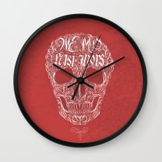 No One But Death (Shall Part Us) Wall Clock