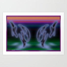 Frakblot Wisp Art Print