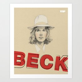 Beck Hansen by VIP Art Print