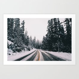 Winter Drive Art Print