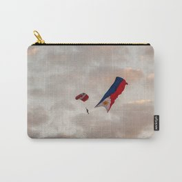 Skydiver with Philippine Flag Carry-All Pouch