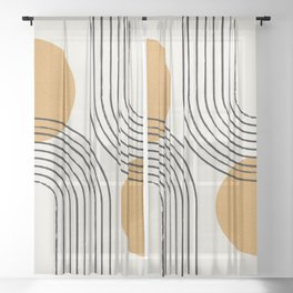 Sun Arch Double - Gold Sheer Curtain