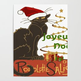 Joyeux Noel Le Chat Noir Christmas Parody Poster