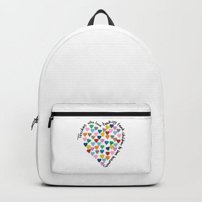 Hearts Heart Teacher Backpack