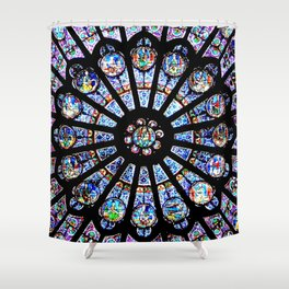 Cathedral Stained Glass Shower Curtain