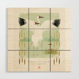 Whooping Crane Wood Wall Art
